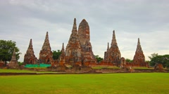 Wat Chaiwatthanaram Buddhist temple. Ayutthaya, Thailand Stock Footage