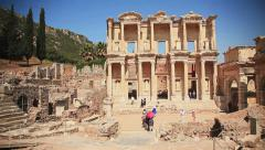 Celsus Library Efes Stock Footage