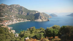 Panorama Turunc Bay Stock Footage