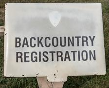Backcountry Registration Book - stock photo