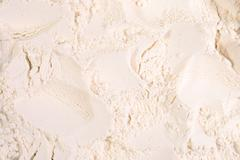 White flour background as background texture - stock photo