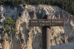Help Prevent Erosion Sign - stock photo