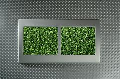 Ecological renewable electric energy metaphor Stock Photos