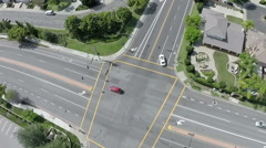 Westlake aerial street intersection neighborhood Stock Footage
