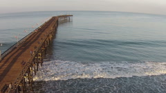 Fishing pier aerial view - stock footage