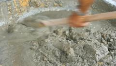 Mixing cement Stock Footage