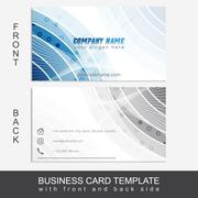 Modern abstract business card template or visiting card set - stock illustration