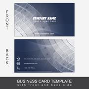 Stock Illustration of Abstract business card template or visiting card set