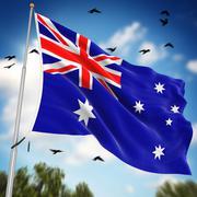 Flag of Australia Stock Illustration
