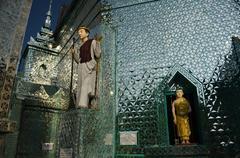 Mirror temple in Myanmar (Burma), Southeast Asia - Interior Courtyard View Stock Photos