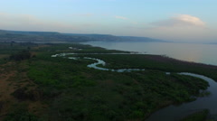 4K Aerial of Sea of Galilee Stock Footage