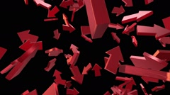 Flying arrows in red Stock Footage