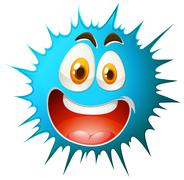 Blue splash with happy facial expression Stock Illustration
