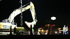 Roadwork construction Stock Footage