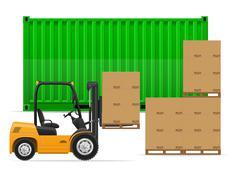 freight transportation concept vector illustration - stock illustration