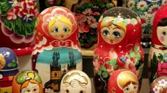 Matryoshka dolls 5 Stock Footage
