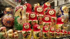 Matryoshka dolls 3 - stock footage