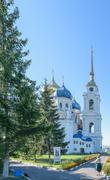 Church of the Holy Trinity under a cloudless blue sky on a sunny summer day - stock photo