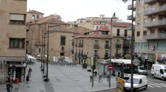 Plaza De San Julian Stock Footage