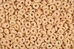 Breakfast cereal rings background Stock Photos