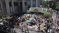 Bangkok Bomb Erawan Shrine Ropens Stock Footage