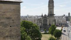 Church Saint-Pierre located in Lower Normandy city of Caen by the day 4K 3840 Stock Footage