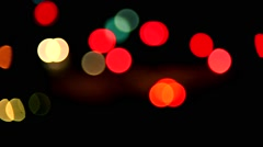 Night traffic bokeh lights,abstract colorful background, Stock Footage