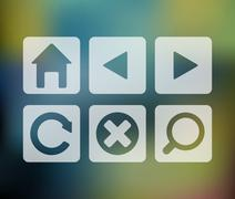 Vector set of browser icons - stock illustration