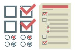 Vector simple design elements for To Do list Stock Illustration