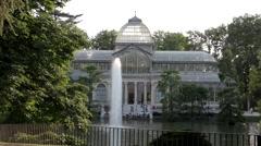 Palacio De Cristal Stock Footage