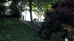 Steps to Debod - stock footage