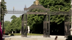 Retiro Entrance Stock Footage