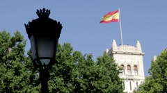 Spanish Flag and Lamp Stock Footage