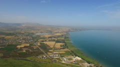 4K Israeli Agricultural Land in Near Sea of Galilee Stock Footage