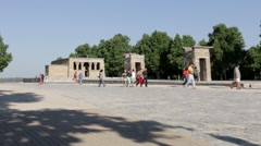 Tourists At Debod Stock Footage