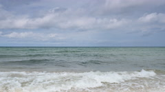 Baltic sea and blue sky with clouds - stock footage