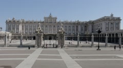 Courtyard Royal Palace Stock Footage