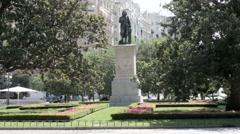 Murillo's Statue Prado Stock Footage