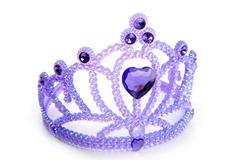 Stock Photo of Children purple blue crown with plastic gem