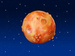 Space fantasy planet orange blue sky Kuvituskuvat