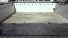 4k empty diving outdoors pool olympics stadium Greece Stock Footage
