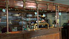 Barman at the bar desk of the 'St. Norbert ' pub in Strahov Monastery. Stock Footage