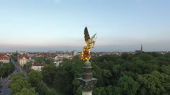 Aerial view of Munich Stock Footage