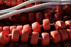Fishing net and gear for professional fisherman boat Stock Photos