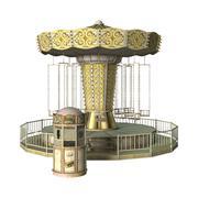Swing Carousel Ride Stock Illustration