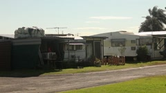Caravans, Permanent resident sites in a caravan park Australia - stock footage