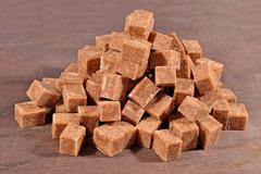 Heap of brown sugar Stock Photos