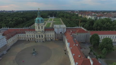 Great aerial view of Charlottenburg Palace in Berlin Stock Footage