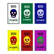 Dia de Muertos - Mexican Day of the death spanish text Stock Illustration