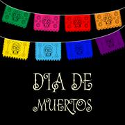 Stock Illustration of Dia de Muertos - Mexican Day of the death spanish text. decoration
